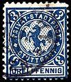 Germany Stuttgart 1890-99 local stamp 3pf - 13 used.jpg