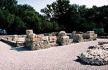 Pohľad na odkryté zvyšky rímskej vojenskej staniceGerulata