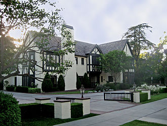 Getty House - The Getty House, in Windsor Square, official home of the mayor of Los Angeles, California (2008)