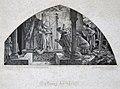 Gezeichnet von A. Baur nach dem Frescobilde in Aachen, Eröffnung der Gruft Karls des Grossen, in Holzschnittaus. von R. Brendamour, Düsseldorf 1870.jpg