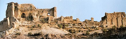 "Ghal'eh Dokhtar (or ""The Maiden's Castle"") in present-day Fars, Firuzabad, Iran, built by Ardashir in 209, before he was finally able to defeat the Parthian empire. Ghal'eh Dokhtar2.jpg"