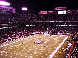 Monday Night Miracle (American football) - Image: Giants stadium