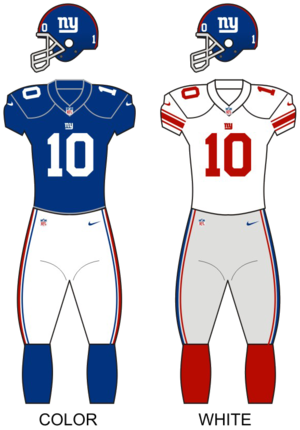 best cheap 52a89 d80c9 Logos and uniforms of the New York Giants - Wikipedia