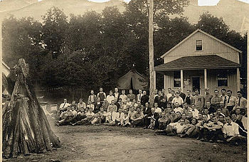 Gifford Pinchot and students at the Yale summer forestry camp, Milford,  Pennsylvania, 1910