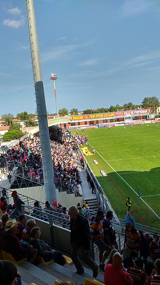Perpignan - Rugby side Catalans Dragons' Stade Gilbert Brutus.