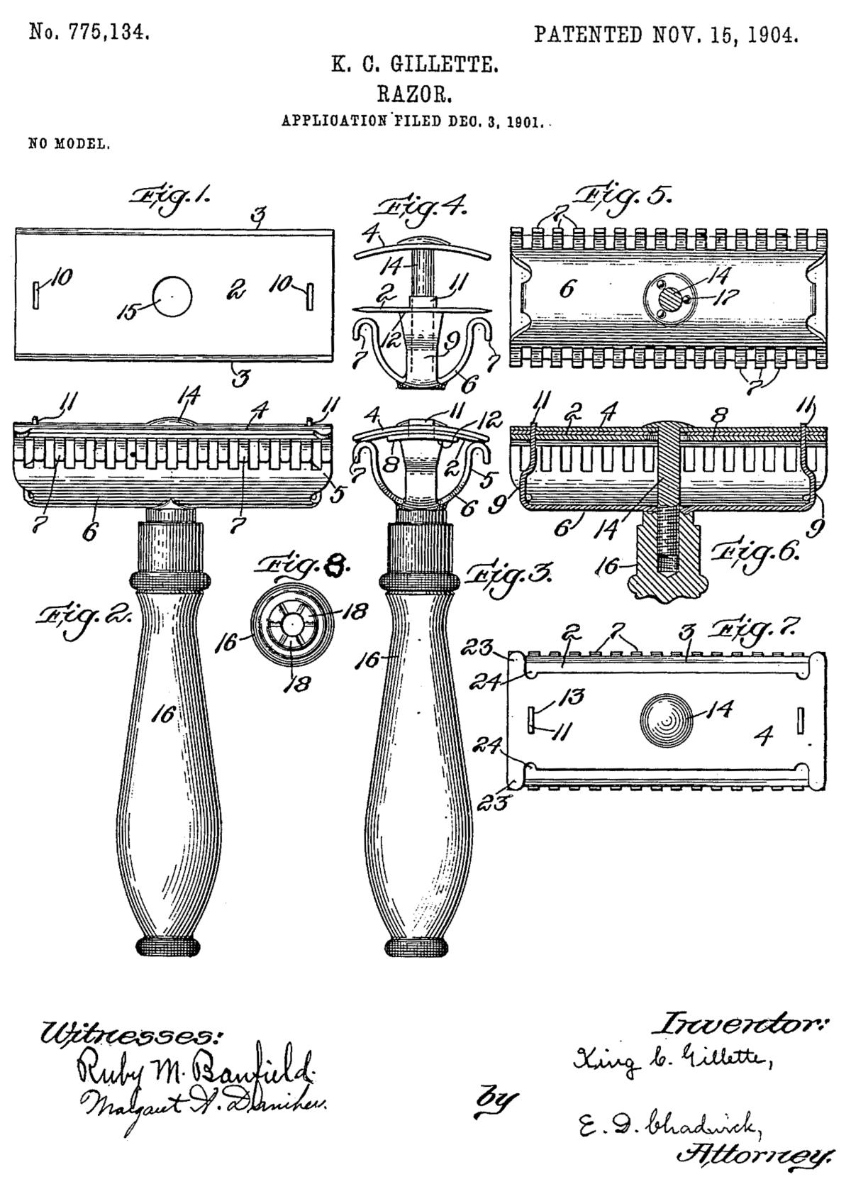 Gillette razor patent.png