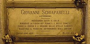Schiaparelli EDM lander - Schiaparelli's grave in Milan, Italy