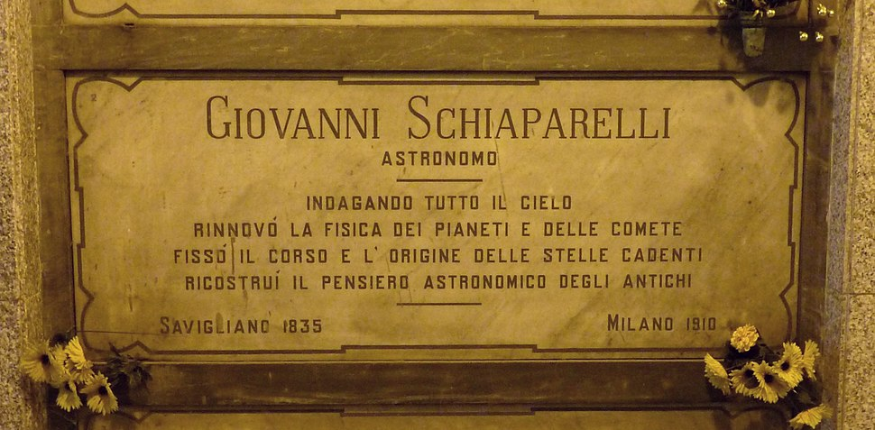 Giovanni Schiaparelli grave Milan 2015