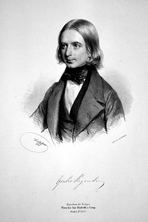 Giulio Regondi - Giulio Regondi Lithograph by Josef Kriehuber, 1841.