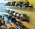 Glasgow Riverside Museum keeps the cars safely out of reach.JPG