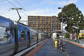 railway station in Glen Waverley, Melbourne, Victoria, Australia