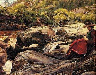 Effie Gray - Effie at Glenfinlas, sketch by Millais