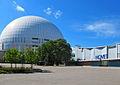 Globen och Hovet i Stockholm juni 2014.jpg