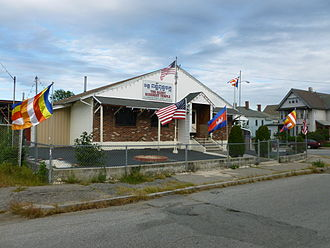 Cambodian Americans - Image: Glory Buddhist Temple; southwest (front) side; Lowell, MA; 2011 09 11