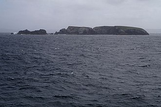 Gloup Holm - Gloup Holm with the Clapper on the left