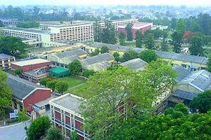 Guru Nanak Dev Engineering College, Ludhiana - Huge campus overlooking main building and auditorium.