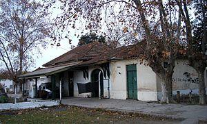 Province of Buenos Aires Railway - Gobernador Monteverde, one of the stops in Avellaneda-La Plata line.