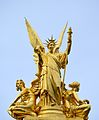 Golden statue of Opéra Garnier, Paris 29 June 2014.jpg