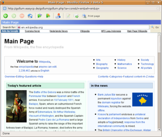 Gollum browser