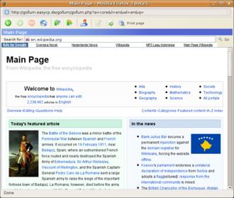 Gollum browser - Image: Gollum browser screenshot