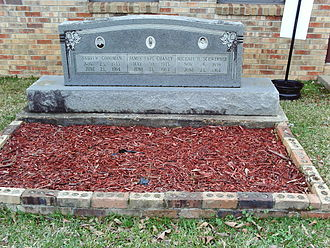 Andrew Goodman - A memorial to victims Andrew Goodman, James Earl Chaney, and Michael H. Schwerner at Mt. Nebo Missionary Baptist Church, Philadelphia, Mississippi. See murders of Chaney, Goodman, and Schwerner.