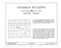Goodman Building, 202 West Thirteenth Street, Austin, Travis County, TX HABS TEX,227-AUST,15- (sheet 1 of 7).png