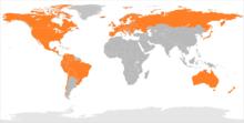 Karte der weltweiten Verfügbarkeit von Google Play Music