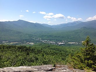 Gorham, New Hampshire - View of Gorham from Mt. Hayes, 2016
