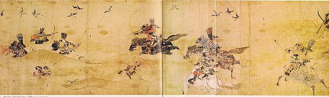 『後三年合戦絵巻』(金沢柵付近 1087年) /wikipediaより引用