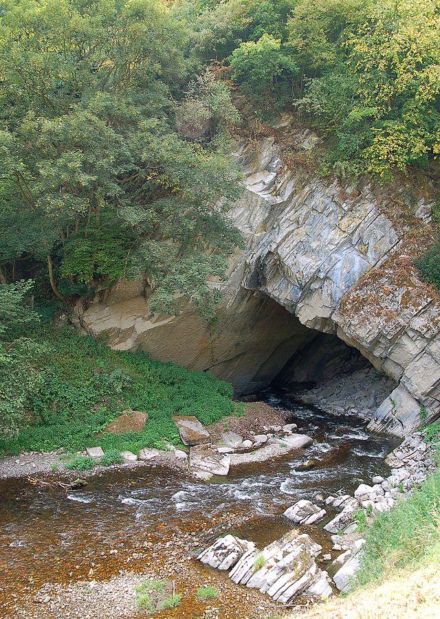 Осенний Пейзаж Лес Горах Пещера Красивая Рок Горной Тропе ... | 901x640