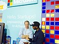 Goziex Tech's CEO Davies Iyiegbu at Microsoft Ventures Stand.jpg