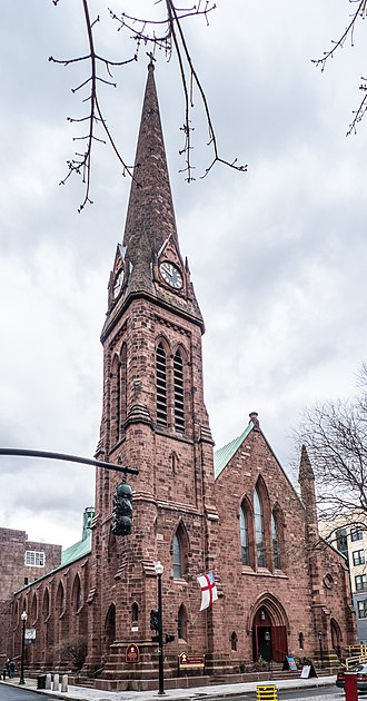 1846 in architecture - Grace Church, Providence, Rhode Island, designed by Richard Upjohn