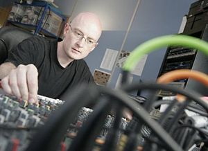 Graeme Norgate - Norgate developing music at Free Radical Design in 2006.