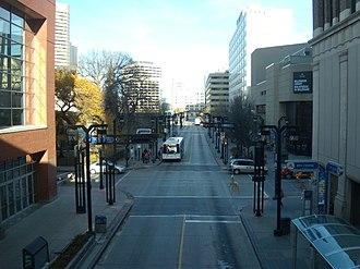 Winnipeg Transit - Graham Avenue Transit Mall in 2012