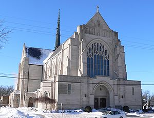 Grand Island (Nebraska) cathedral from SE 3.JPG