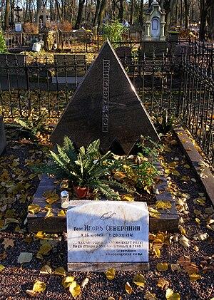 Igor Severyanin - Grave of Severyanin in Tallinn