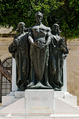 Great Siege of Malta - Great Siege Monument by Antonio Sciortino in Valletta