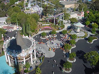 California's Great America - View of California's Great America from above