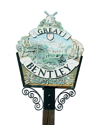 Great Bentley -  The other side of the village sign