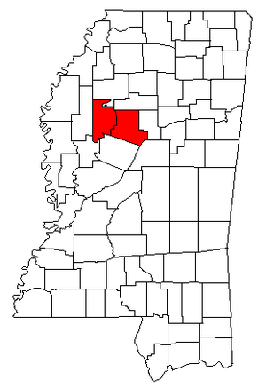 Greenwood, Mississippi micropolitan area - Map of Mississippi highlighting the Greenwood micropolitan area.