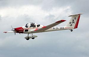 Grob G 109 - Royal Air Force Vigilant T.1 lands at RIAT 2008, England.