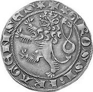 Prague groschen - Groschen of Venceslas II., reverse