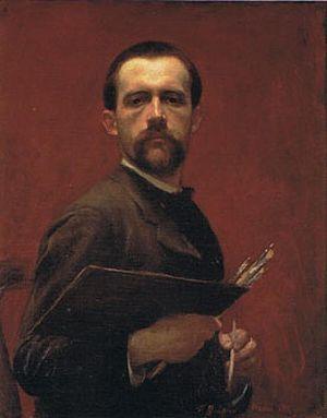 François Guiguet - Self-portrait (1886)