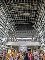 HK Sheung Wan PMQ mall Hollywood Road night courtyard tree May-2014 ceiling.JPG