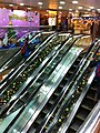 HK Tai Kok Tsui evening 新九龍廣場 New Kowloon Plaza upper escalators Dec-2012.JPG