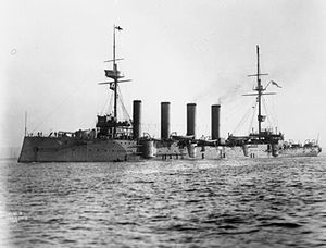 John Tovey, 1st Baron Tovey - The armoured cruiser HMS ''King Alfred'' to which Tovey was appointed in 1908