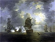 HMS Monmouth and Foudroyant 1758