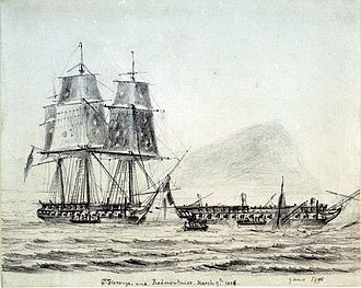 French frigate Piémontaise (1804) - Image: HMS St Fiorenzo and Piemontaise
