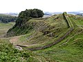 Hadrian's Wall on Housesteads Crags - geograph.org.uk - 738198.jpg
