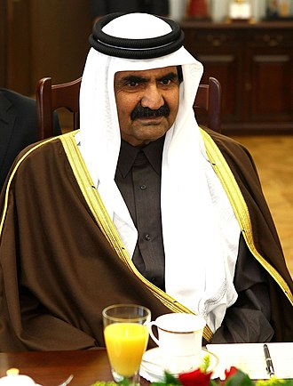 Hamad bin Khalifa Al Thani - The Emir in the Polish Senate in 2011.